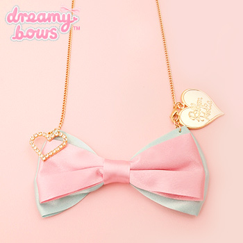 Ribbonholic Satin Bow Necklace