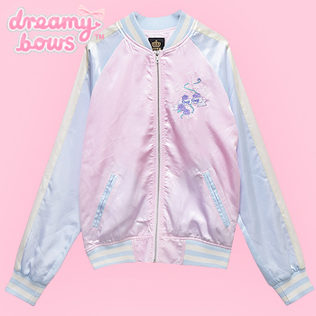 Silky Rosy Rosy Cross Sukajan Baseball Jacket