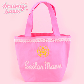 Sailor Moon Lace Embroidery Tote Bag