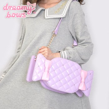 Shiny Candy Quilted Bag - Lavender