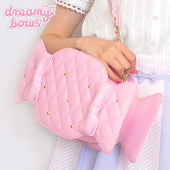Shiny Candy Quilted Bag - Pink