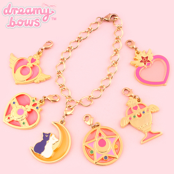 Moon and Stars Key Chain Stained Glass Style