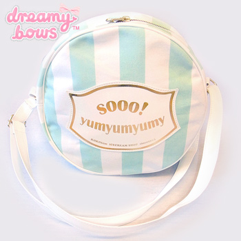 Sooo!Yumy Candy Stripe Bag - Sax