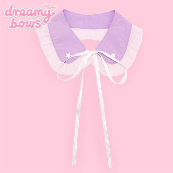 Star Embroidered Collar Accessory - Lavender