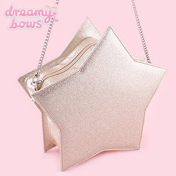 Star Shaped Holographic Glitter Bag - Gold