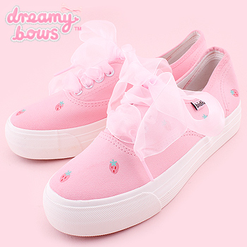 Strawberry Thick Sole Sneaker Shoes - Pink