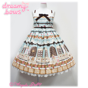 Sweet Cream House collared JSK - Chocolate Mint