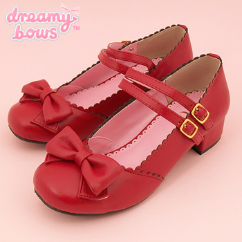 Double Strap Tea Party Shoes - Red