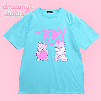 Teddy Bear Friends Big T-Shirt - Blue