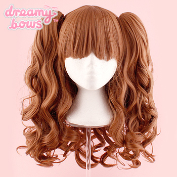Long Curly Twin Tails Wig - Dark Brown