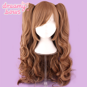 Long Curly Twin Tails Wig - Light Brown