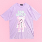 Bad Mood Cat Bear Big T-Shirt - Lav