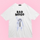 Bad Mood Cat Bear Big T-Shirt - White