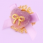 Candy Heart with Bow Ring - Grape Purple