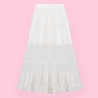 White Lace Skirt with Long Floaty Overlay