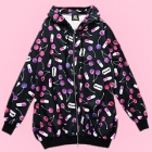 Cherry Temptation Menhera All Over Pattern Zip Hoodie