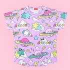 Crazy Planet Illustration Pastel Cutsew - Lav