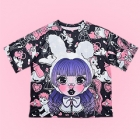 VIOLET IN THE SKY Design Contest Cutsew - Black x Pink