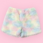 Eco Fur Fluffy Shorts - Light Pastels