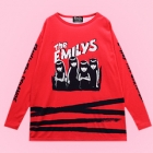 Emily The Strange The Emilys Long Sleeve Cutsew - Red