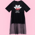 Guilty Innocence Cat Tulle Layered Dress - Black