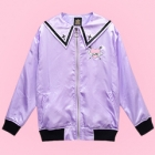 Guilty Heart Bat Sailor Collar Jacket - Lav