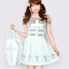 Haunted House Cage Skirt JSK - Mint