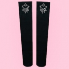 Heart Planet Knee High Socks - Black x White