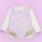 Pastel Hedgehog Sailor Collar Jacket - Lav