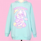 90884 Happy Bunny To You Hoodie - Mint