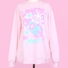 90884 Journy To Mars Sweater - Pink