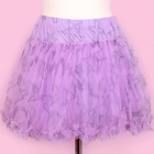 Moon, Cross & Star Layered Skirt - Lavender