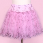 Moon, Cross & Star Layered Skirt - Pink