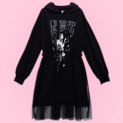 Lunatic Stardust Lady Tulle Parka Dress - Black