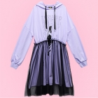 Lunatic Stardust Lady Tulle Parka Dress - Lav