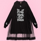 Tulle From Dusk Till Dawn Cutsew Dress - Black