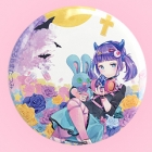 Tatsumi Tsurushima Moonlight Rose Punk Girl 57mm Badge