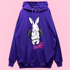 Nasty Bunny Bat Hooded Parka - Purple