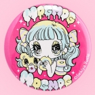 Yurie Sekiya Peropero Sparkles MogMog Girl 57mm Badge