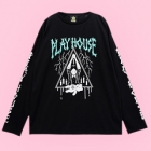 Play House Long Sleeve T-Shirt - Black