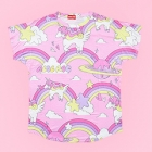 Rainbow Illustrated Unicorn Cutsew - Pink