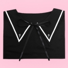 Gothic Cross Sailor Collar Accessory - Black