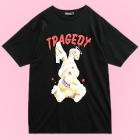 Tragedy Bandage Rabbit Big T-Shirt - Black