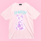 Tragedy Bandage Rabbit Big T-Shirt - Pink