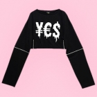 Yes Desire Short Cutsew with Ring Zips - Black